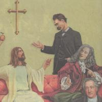 Jesus mit sieben Zweiflern z. B. Goethe, Nietzsche